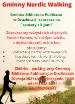plakat promujący zajęcia Nodic Walking